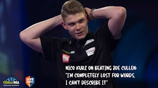 """Nico Kurz on beating Joe Cullen: """"I'm completely lost for words, I can't describe it"""""""