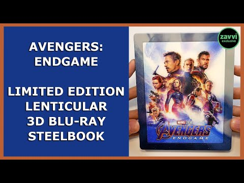 AVENGERS: ENDGAME - LIMITED EMBOSSED LENTICULAR 3D BLU-RAY STEELBOOK UNBOXING - ZAVVI EXCLUSIVE