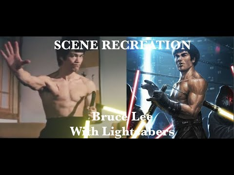Bruce Lee lightsaber scene recreation