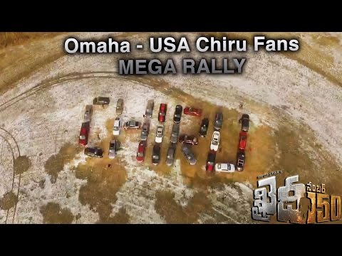 Chiranjeevi Fans Omaha USA Mega Rally with twenty nine cars