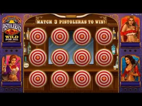 Pistoleras Slot - Microgaming Promo Video