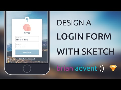 UI Design Tutorial: Create a Login Form with Sketch – Meet the Conference Speaker