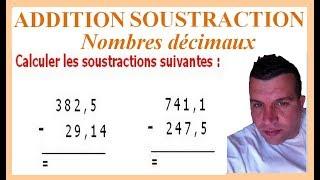 Maths 6ème - Additions et soustractions de nombres décimaux Exercice 10
