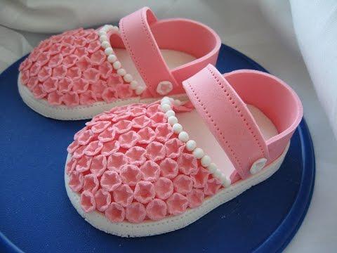 Детская туфельки из мастики мастер класс