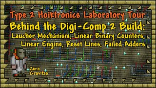 """For those brave souls interested in experimenting with binary computing basics in Terraria using the hoik glitch. Hoiktronics guide: http://forums.terraria.org/index.php?threads/hoiktronics-what-is-it-guide.8371/+VIDEO INDEX:0:24 - Load and Launch Mechanism.0:51 - Top-Hoik Binary Counter.1:57 - Bottom-Hoik Binary Counter.2:24 - Recycling binary Counter.3:26 - Rapid Reset Line (1 reset pre 4 tiles in length).4:10 - Compact Rapid Reset Line (1 reset per 2 tiles length).5:40 - Linear (Sequential) Hoik Engine.6:11 - Turbo Active (Square) Block Elevator.7:09 - Down-Hoik Binary Counter with Reset.7:37 - Down-Hoik Adder (Broken).8:49 - Demonstration of Down Hoik Mount Direction Problem.9:15 - NPC Recycling (via Teleporters) Counter/Adder (Broken).10:49 - 99% Complete (Compact) Digi-Comp 2 (Broken Design).12:04 - Distributor Demonstrtation (Teired Flip-Flops).12:44 - Segue to Digi-Comp 2 Filming Location. http://youtu.be/MpZBsTTdXUc+ LINKS:""""Hoik Demo World"""" Download (V0.2) - https://www.dropbox.com/s/qgwdsn5r2rmsq6q/Hoik_Demo_WorldV0_2.zip?dl=1+ CREDITS:All footage shot in Terraria 1.2.4.1 for PC.No mods or 3rd party content!TEdit used for building lab space and copy/paste expedience.Game IP belongs to Re-Logic.Music from Terraria Soundtrack Volumes 1 & 2 by Scott Lloyd Shelly (Resonance array):http://re-logic.bandcamp.com/Video captured with Fraps, edited in trakAxPC.+ Proud member of """"T-MEC"""" discussion group on TCF (Terraria Comunity Forum): http://forums.terraria.org/index.php?social-forums/t-mec-terrarian-mechanical-engineering-corps.203/"""