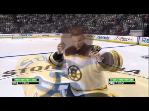 How to start a goalie fight in NHL 12 (Play Now)