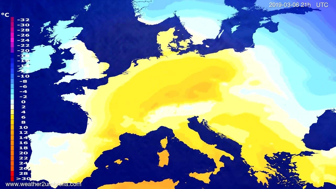 #Weather_Forecast// Temperature forecast Europe 2019-03-05