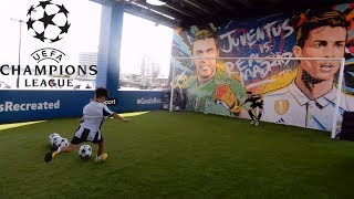 UEFA Champions League Final Cardiff 2017 Football Challenges FestivalFeature Hashtag United F.C. Theo Baker, Charlie Morley, Steven Gerard and morebt sport goals recreatedfootball challengesfootball skillsfootball festivalfun kids gamesfun challengesfootball gamesCristiano RonaldoReal MadridJuventusThe Great David R