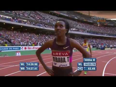 Tirunesh Dibaba #7 all-time 5000m in Paris