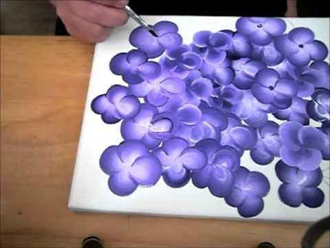 Ratgeber, zweifarbige kleine Blüten mit Acrylfarbe malen