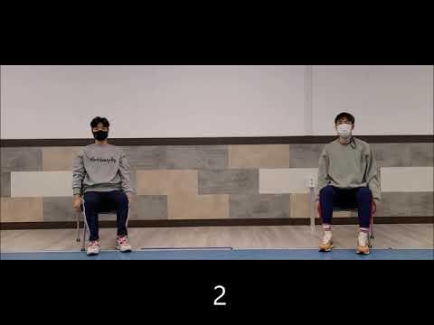[스트레칭] 앉아서 하는 간단 스트레칭1 (의정부시장애인생활체육지도자)