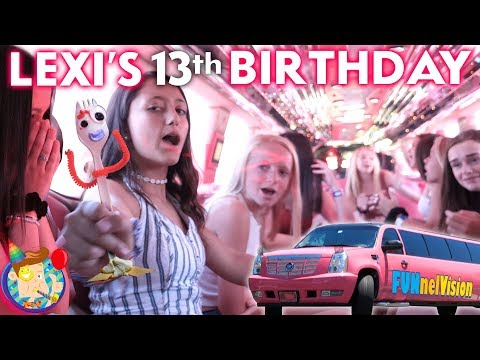 TEENAGER YEARS!!  LEXI's 13th BIRTHDAY Party! (FV Family Bday Vlog)