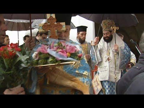 Παρουσία του δημάρχου Αθηναίων Κ. Μπακογιάννη ο Αγιασμός των υδάτων στην Δεξαμενή