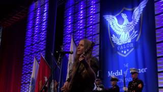 Sawyer Performs National Anthem at Medal of Honor Gala