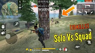 INSANE SOLO VS SQUAD GAME! (pro gameplay??...) - Garena Free Fire