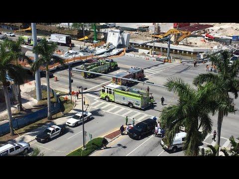 Mindestens vier Tote: Neue Fußgängerbrücke in Miami e ...