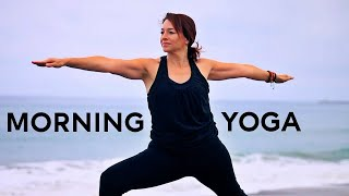 Video 33 Minute Morning Yoga for Energy and Strength With Fightmaster Yoga MP3, 3GP, MP4, WEBM, AVI, FLV Maret 2018