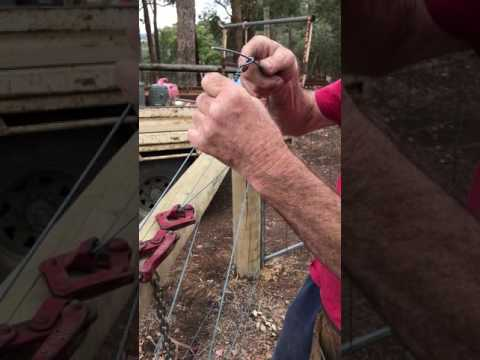 Bob The Fencer - Straining and tying off fence wire