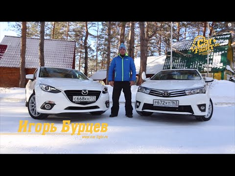 Toyota corolla vs mazda 3 фото