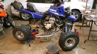 7. 750cc Yamaha Banshee ZX7R Frame gussets & Custom skid plate.