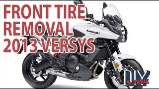 4. DIY HOW TO REMOVE AND INSTALL FRONT WHEEL ON 2013 KAWASAKI VERSYS