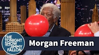Morgan Freeman Chats with Jimmy While Sucking Helium