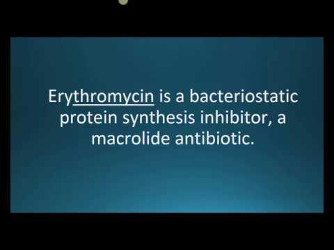 How to pronounce erythromycin (E-mycin) (Memorizing Pharmacology Flashcard)