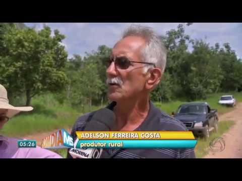 Cabeceira da ponte do Pirizal desmorona em Camapuã - TV Morena