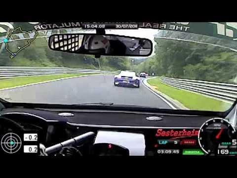 VLN Lauf 2011 Onboard Nürburgring Nordschleife Rennen und Crash (видео)