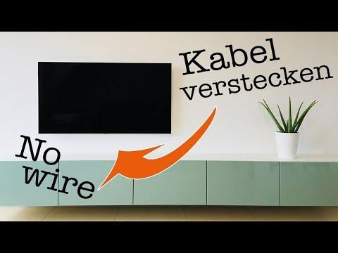 TV Kabel verstecken in Steinwand