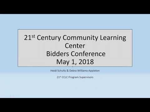 21st CCLC Bidders Conference Recording