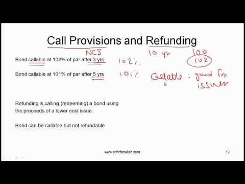 CFA Level I Features of Debt Securities Video Lecture by Mr. Arif Irfanullah Part 2