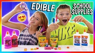 Video MAKING EDIBLE SCHOOL SUPPLIES   HOW TO SNEAK CANDY INTO CLASS   We Are The Davises MP3, 3GP, MP4, WEBM, AVI, FLV Maret 2018