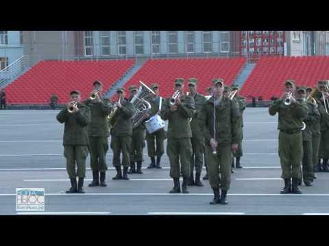 На площади им. Куйбышева прошла первая сводная репетиция Парада Победы