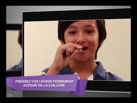 Exercices de déglutition et musculaires au niveau des lèvres