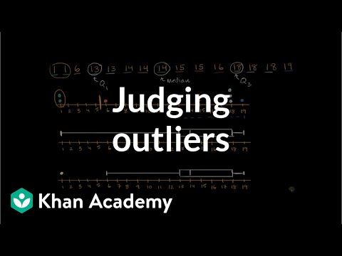 Judging Outliers In A Dataset Video Khan Academy