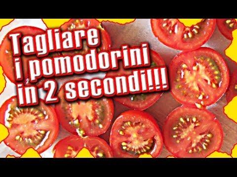 come tagliare i pomodorini in soli 2 secondi
