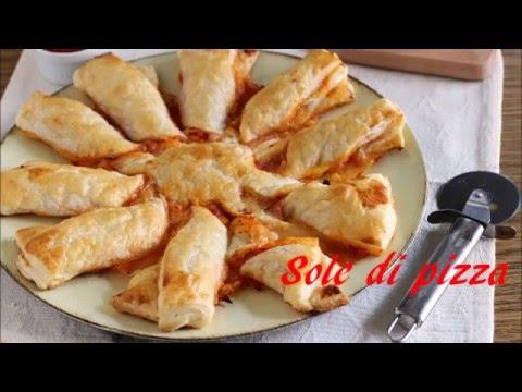 sole di pizza con la pasta sfoglia - ricetta facile e veloce
