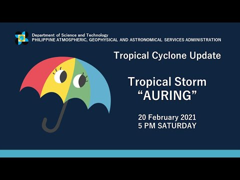 "Press Briefing: Tropical Storm ""#AURINGPH"" Saturday, 5 PM February 20, 2021"