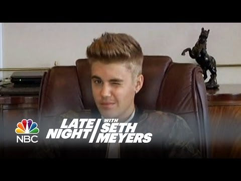 WATCH: Bieber 'deposition questions' on 'Late Night with Seth Meyers'
