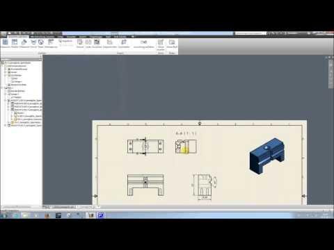 Inventor 2012 Tutorial technisches Zeichnen (Einzelteil)