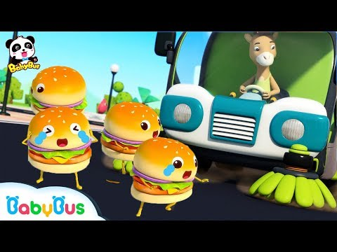 Run Away, Hamburgers!  | Ice Cream, Cake Song | Learn Colors | Kids Pretend Play | BabyBus