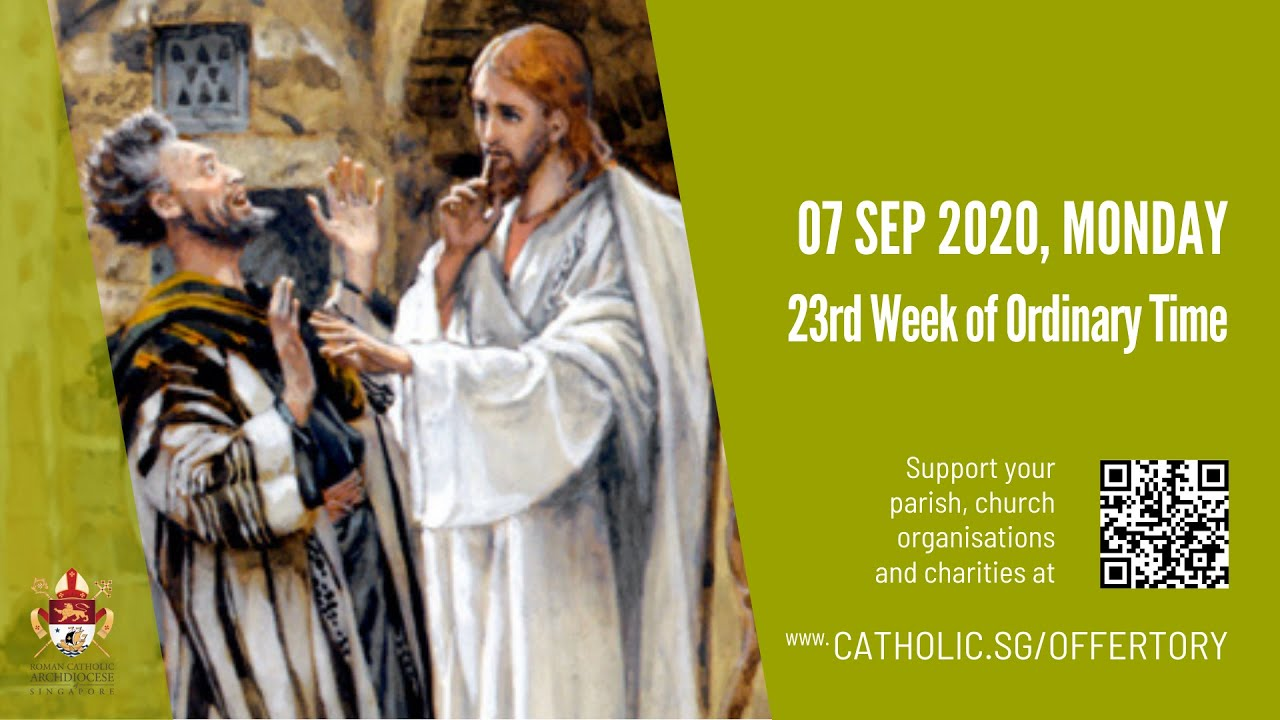 Catholic Mass 7th September 2020 For Monday Today Online