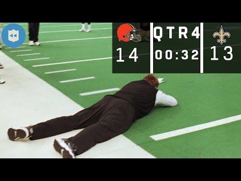 Browns vs. Saints: New Orleans Ball Down 1, 32 Seconds left (Halloween, 1999)