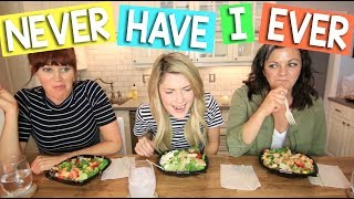 Mamrie Hart, Joselyn Hughes and I played a SPICY game of Never Have I Ever while eating Wendy's New Fresh Mozzarella Chicken Salad and New Strawberry Mango Chicken Salad because duh! You guys tweeted us the questions and we answered! (Warning: some things cannot be unheard). #AdMY STYLE GUIDE: http://amzn.to/2ntNQjMMY SELF HELP BOOK: http://amzn.to/2ntP1jqMY PODCAST: http://soundcloud.com/nottoodeepwithgraceOTHER SOCIALS:SnapChat: GraceHelbighttp://twitter.com/gracehelbighttp://gracehelbig.tumblr.comhttp://instagram.com/gracehelbighttp://soundcloud.com/nottoodeepwithgraceORDER #DIRTY30MOVIE NOW! http://bit.ly/28ZATYWDOWNLOAD DYSH! bit.ly/DyshGraceHi, if you're new. I make 3 videos a week, Monday Wednesday and Friday. You might like them, you might hate them, but you can't unsee them. Unless you have amnesia.
