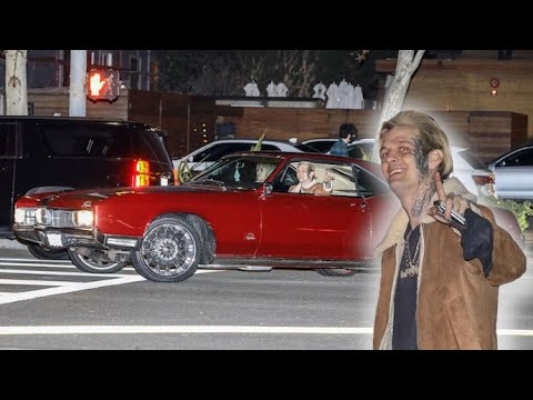 Aaron Carter Busts Out His 1967 Buick Riviera For Romantic Night Out With Melanie Martin
