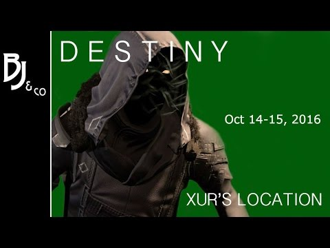 Destiny: Xur - Location, Inventory/Recommendations - Oct 21-22, 2016 Hawkmoon [Week 111]