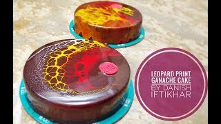 Leopard print cake with shiny ganache by Danish Iftikhar
