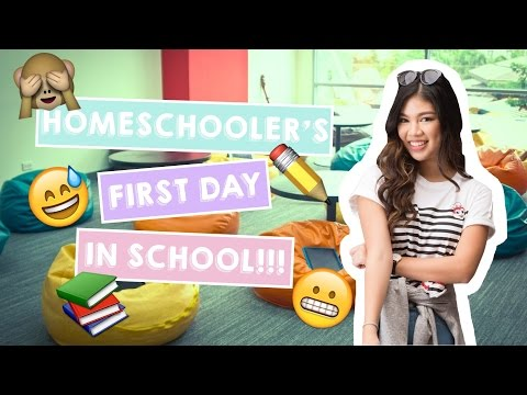 VLOG: Homeschooler's First Day In Highschool!!! | Janina Vela