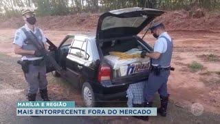 Mais de duas toneladas de droga apreendida em Paraguaçu Paulista e Marília